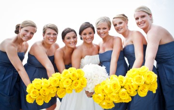 Navy & Yellow Nautical Wedding: Preppy, Classy & Fun {Part 1}