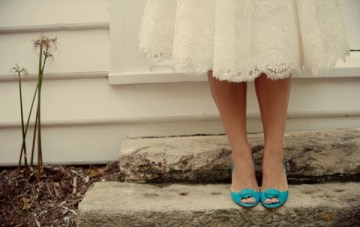 Tuesday Shoesday: A Pretty Turquoise Pair With Rosebuds