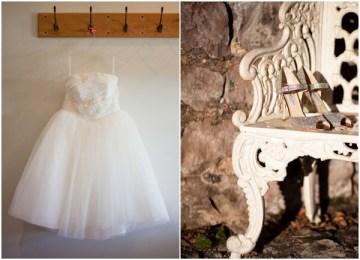 white retro style wedding dress | stephanie oakes