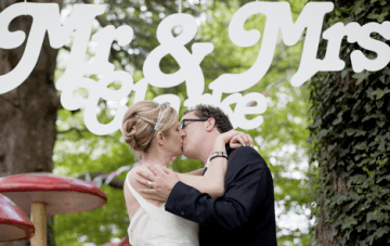 Rock Star Meets Vintage, Quirky Garden Party Wedding