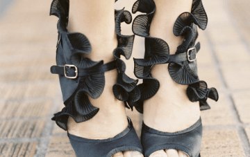 Tuesday Shoesday: Black Ruffles