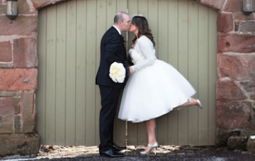 A Chic, Black & White, Winter Barn Wedding {2}