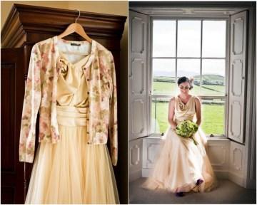 champagne wedding dress | daniel griffiths photography