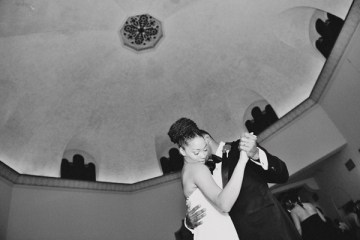 stylish bride and groom first dance   christa elyce photography