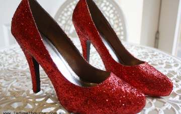 Ruby Red Glitter Shoes BUY or DIY?