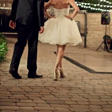 short wedding dress | percivale photography