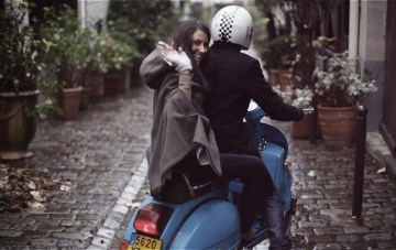 A Blue Vespa, Balloons & Cupcakes: A Parisian Engagement Shoot