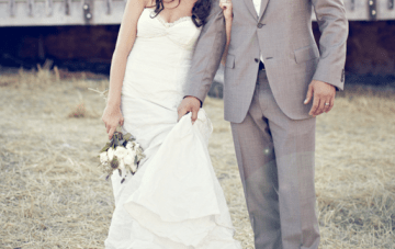 Rustic Chic, DIY Farmhouse Wedding: The Bride Wore Boots {2}