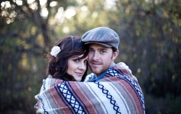Into The Woods With Coffee & Blankets: A Cosy Engagement Shoot