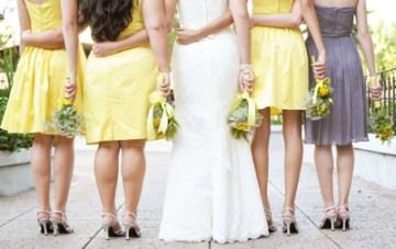 Cool, Quirky, Yellow & Grey DIY Backyard Wedding
