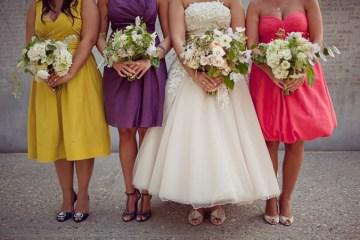 rainbow bridesmaid dresses   brooke courtney photography