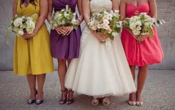 rainbow bridesmaid dresses | brooke courtney photography