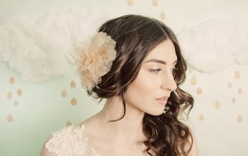 BUY or DIY? Bridal Fabric Hair Flowers