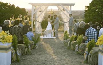 Modern, Rustic, Vintage, Yellow & Grey Ranch Wedding