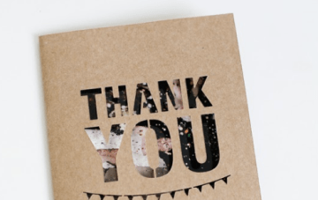 Fantastic DIY Wedding 'Thank You' Card Idea