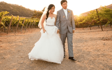 Sunshine Yellow, Pink & Grey Vineyard Wedding