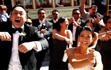 Crazy Fun 'Gangnam Style' Wedding Video