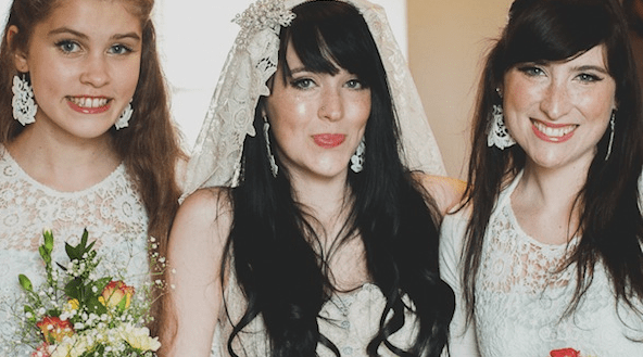 Unique Wedding Dresses Scotland: Creative DIY Scottish / Japanese Barn Wedding