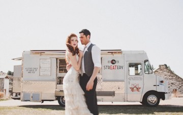 Vintage Glam Bohemian Food Truck Wedding Inspiration