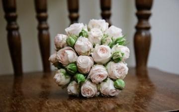 blush pink wedding bouquet   funky photographers