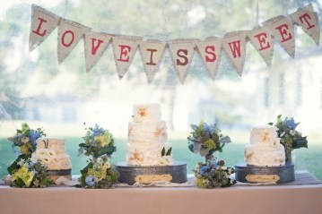 wedding dessert table bunting | carla ten eyck photography