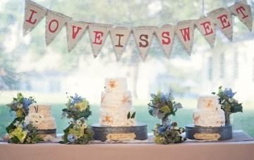 wedding dessert table bunting   carla ten eyck photography