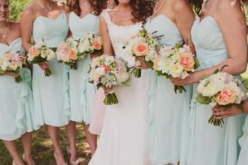 mint green bridesmaid dresses   lauren fair photography