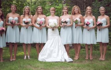 Rustic Green & Pink Wedding: Gingham, Burlap & A Row Boat Getaway