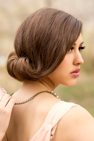 Wedding Hairstyle Chic Chignon Up Do | Bridal Musings 15