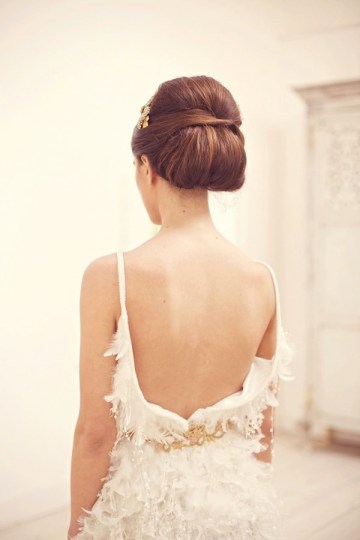 Wedding Hairstyle Chic Chignon Up Do | Bridal Musings 6