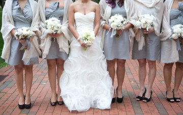 Grey and Orange Modern Wedding in Washington DC