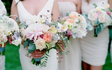 Rustic Chic Wedding Filled With Pretty Pastel Florals
