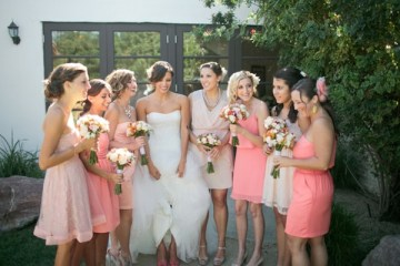 Pink, Peach & Coral Summer Wedding | Troy Grover Photographers 18