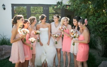 Pink, Peach & Coral Summer Wedding   Troy Grover Photographers 18