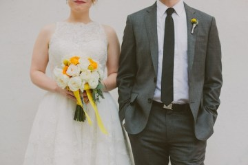 Retro Grey and Yellow Garden Wedding | With Love And Embers 20