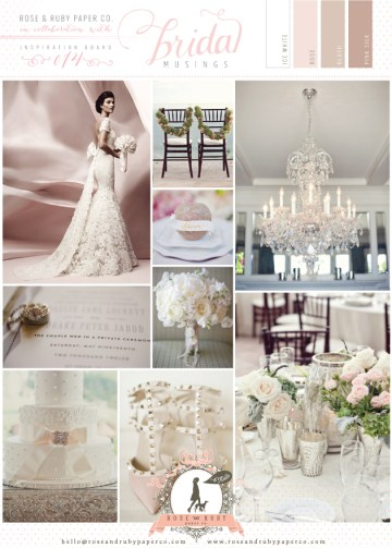 Rose-&-Ruby-Wedding-Inspiration-Board-14-Glitter-Roses-Blush-Pink-White-Lace