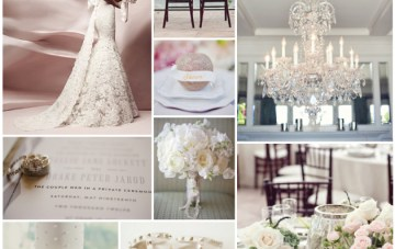 Lace, Glitter & Blush Pink Wedding Inspiration Board