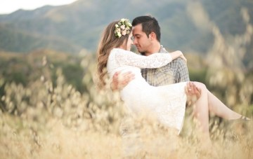 Summer Romance Anniversary Love Shoot In A Golden Field