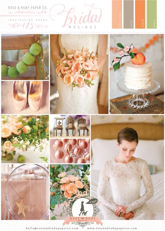 Pretty Peach And Green Wedding Inspiration