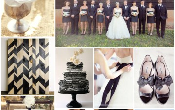 Chic Monochrome Wedding Inspiration Board