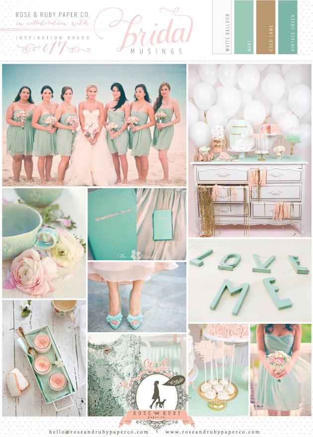 Mint, Blush Pink & Gold Wedding Inspiration