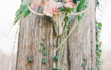 Whimsical Woodland Bridal Shoot Featuring Floral Antlers   Photography   Bridal Musings 24