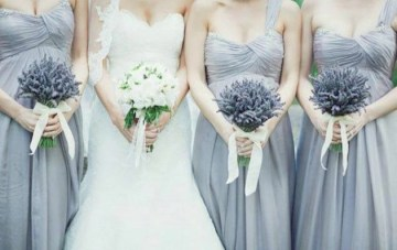 Lavender & Pale Blue Wedding Inspiration Board