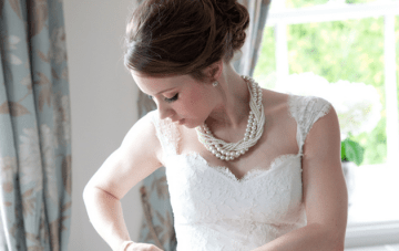 Classically Beautiful Blue & Ivory English Wedding