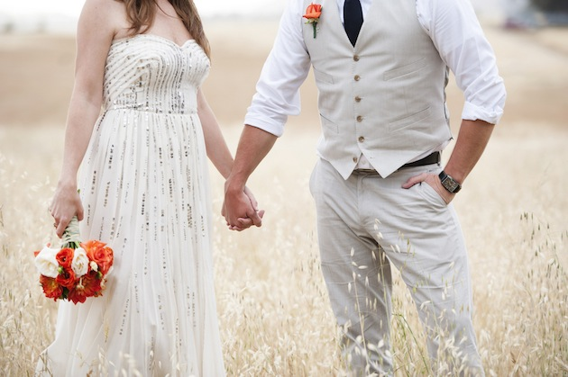 A Beautiful, Orange & Blue Rustic Ranch Wedding With A Side Of 'Weird'