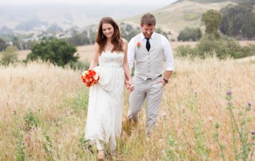 A Beautiful, Orange & Blue Rustic Ranch Wedding With A Side Of 'Weird'