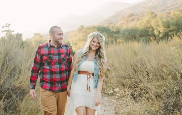 Sweet, Playful & 'A Little Bit Country' Engagement Shoot