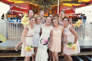 DIY Backyard Wedding | Carnival Wedding | Lauren Fair Photography 25