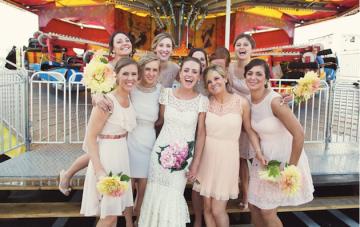 DIY Backyard Wedding   Carnival Wedding   Lauren Fair Photography 25