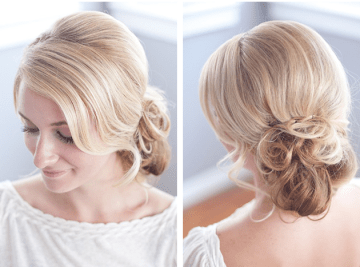 chignon hair tutorial | By Millie B Photography | Bridal Musings